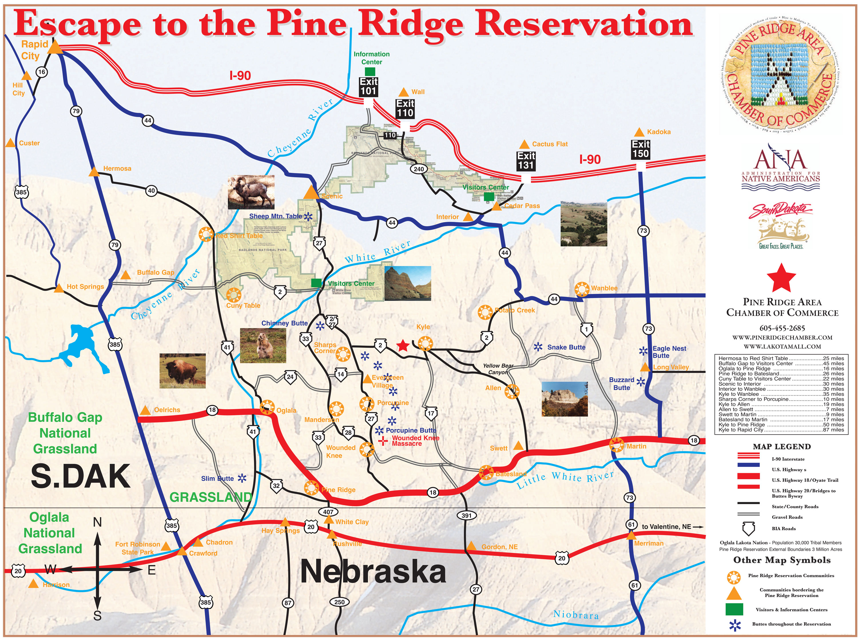 map of pine ridge the seventh power